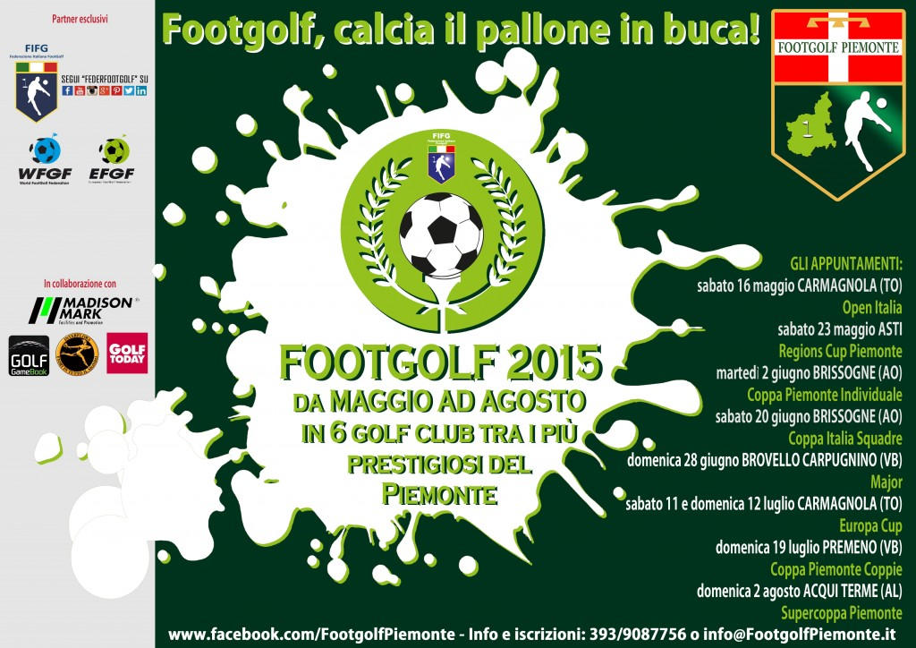Appuntamenti footgolf in Piemonte primo semestre 2015