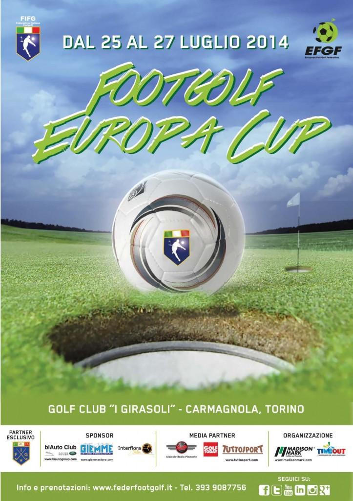 Locandina Footgolf Europa Cup Torino 2014