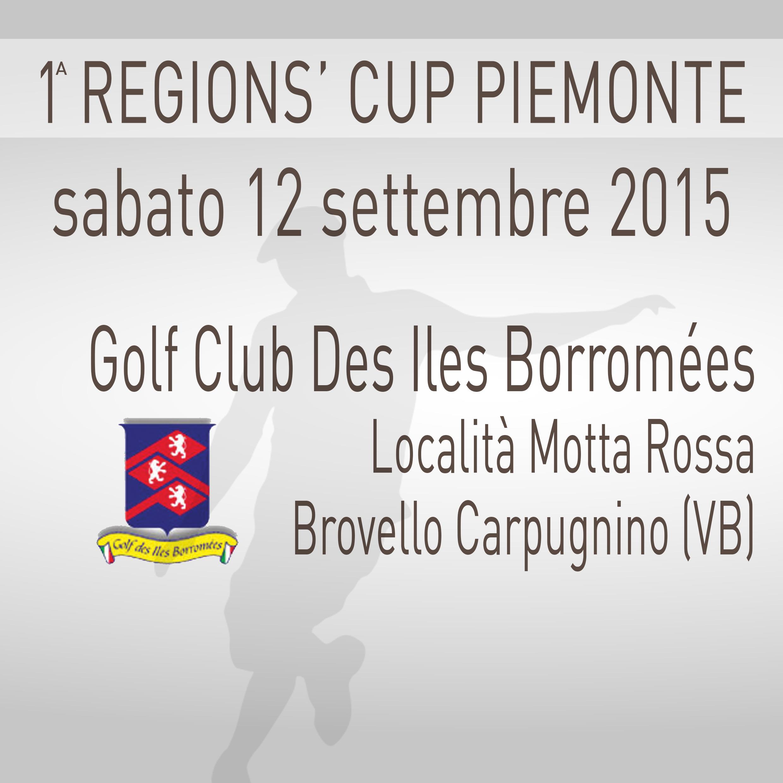 Locandina 1 tappa Regions' Cup Footgolf Piemonte 2015:2016 Brovello Carpugnino VB sabato 12 settembre 2015 Negozio
