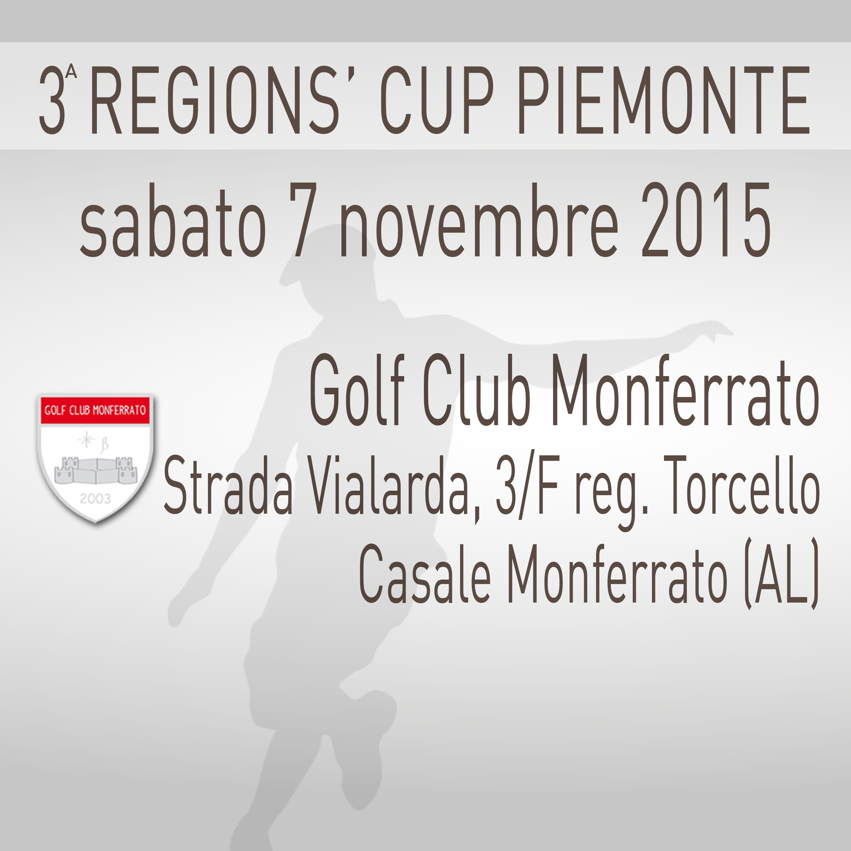 Locandina 3 tappa Regions' Cup Footgolf Piemonte 2015:2016 Casale Monferrato AL sabato 7 novembre 2015 Negozio