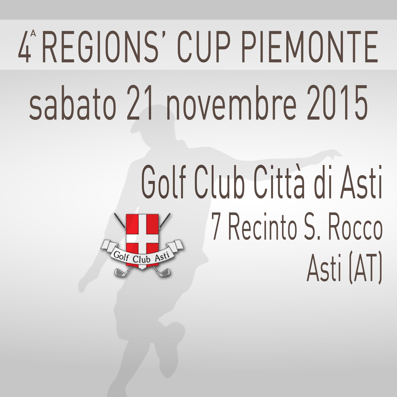 Locandina 4 tappa Regions' Cup Footgolf Piemonte 2015:2016 Asti AT sabato 21 novembre 2015 Negozio
