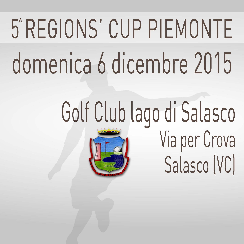 Locandina 5 tappa Regions' Cup Footgolf Piemonte 2015:2016 Salasco VC domenica 6 dicembre 2015 Negozio
