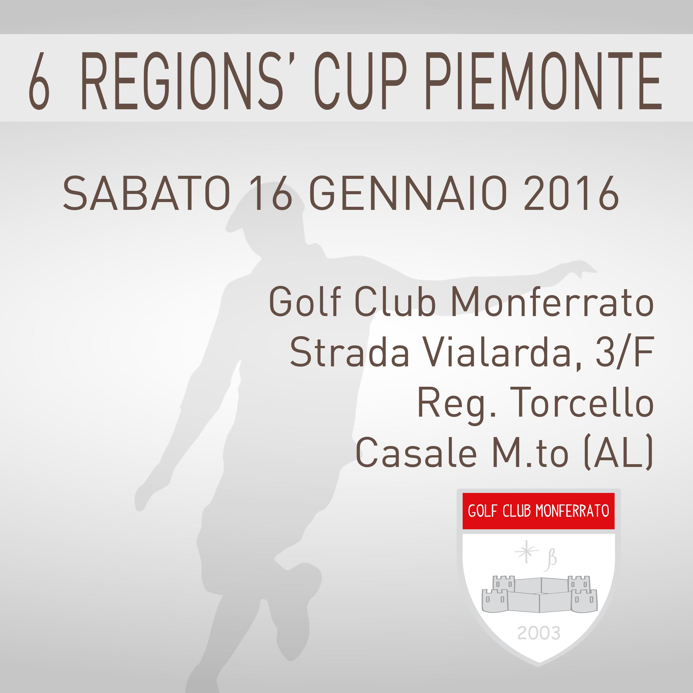 Locandina 6 tappa Regions' Cup Footgolf Piemonte 2015:2016 Monferrato AL sabato 16 gennaio 2016 Negozio