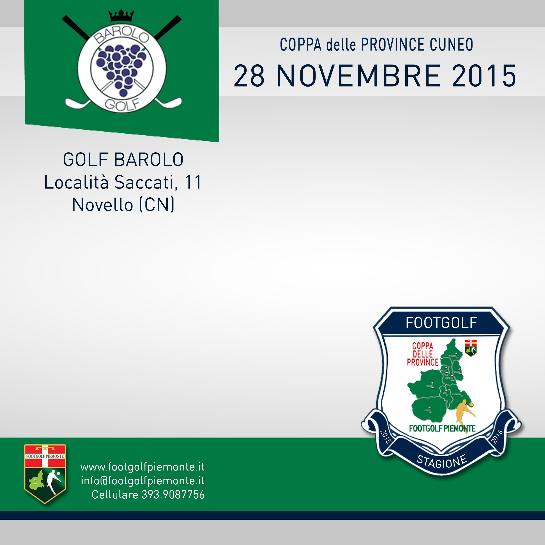 Banner Coppa delle Province Cuneo Footgolf Piemonte 2016 Novello sabato 28 novembre 2015 Negozio