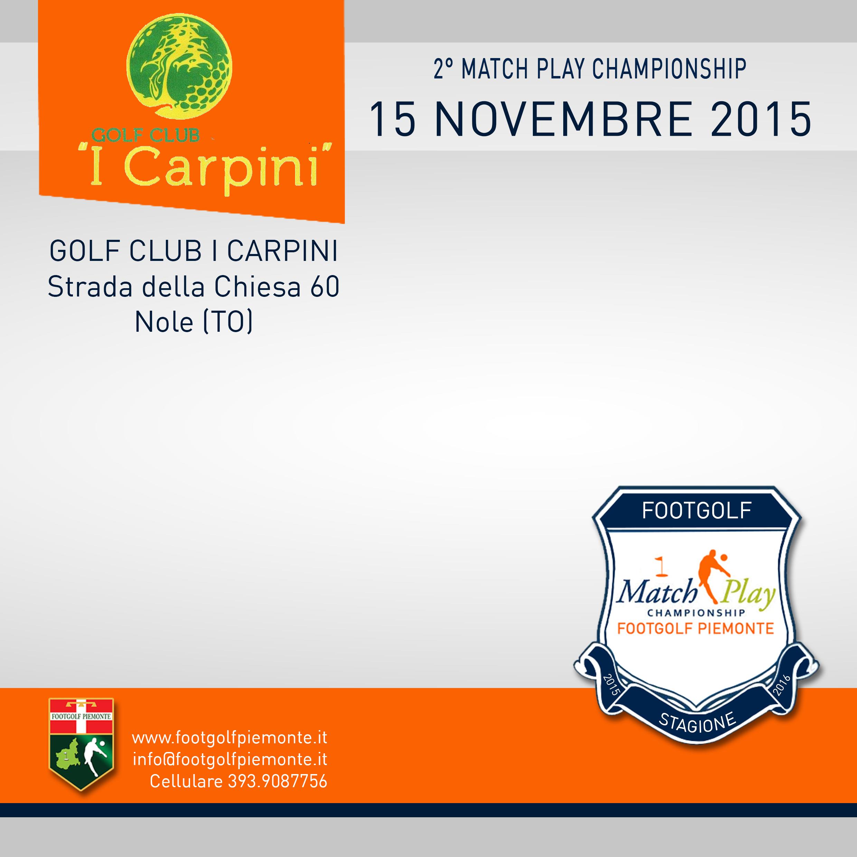 Locandina 2 tappa Match Play Footgolf Piemonte 2016 Nole TO domenica 15 novembre 2015 Negozio