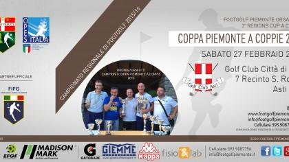 Locandina 3 tappa Regions' Cup Footgolf Piemonte 2015-2016 Coppie Asti AT sabato 27 febbraio 2016 Facebook