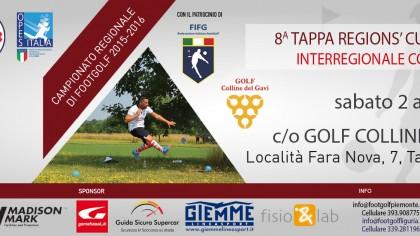 8 tappa Regions' Cup Footgolf Piemonte Tassarolo AL sabato 2 aprile 2016