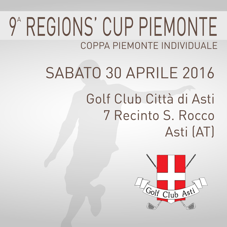 Locandina 9 tappa Regions' Cup Footgolf Piemonte 2015-2016 Individuale Asti AT sabato 30 aprile 2016 Negozio