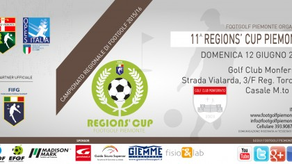 Locandina 11 tappa Regions' Cup Footgolf Piemonte Casale AL domenica 12 giugno 2016
