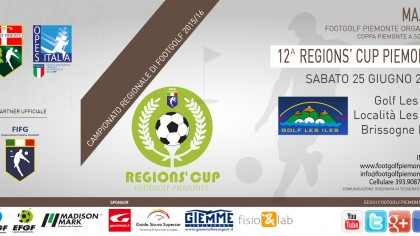 Locandina 12 tappa Regions' Cup Footgolf Piemonte 2016 Brissogne AO sabato 25 giugno 2016