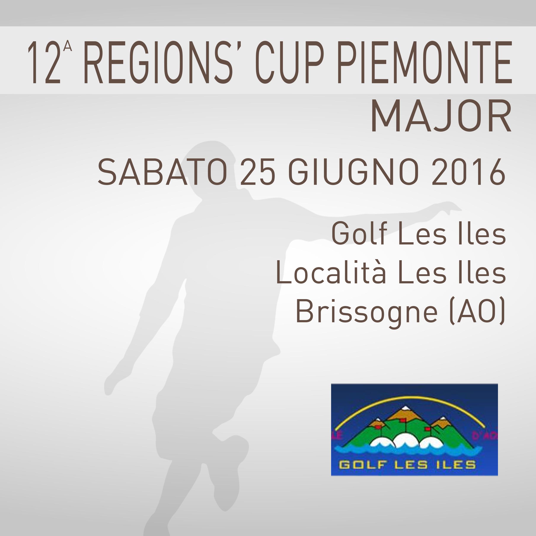 Locandina 12 tappa Regions' Cup Footgolf Piemonte 2016 Brissogne AO sabato 25 giugno 2016 Negozio