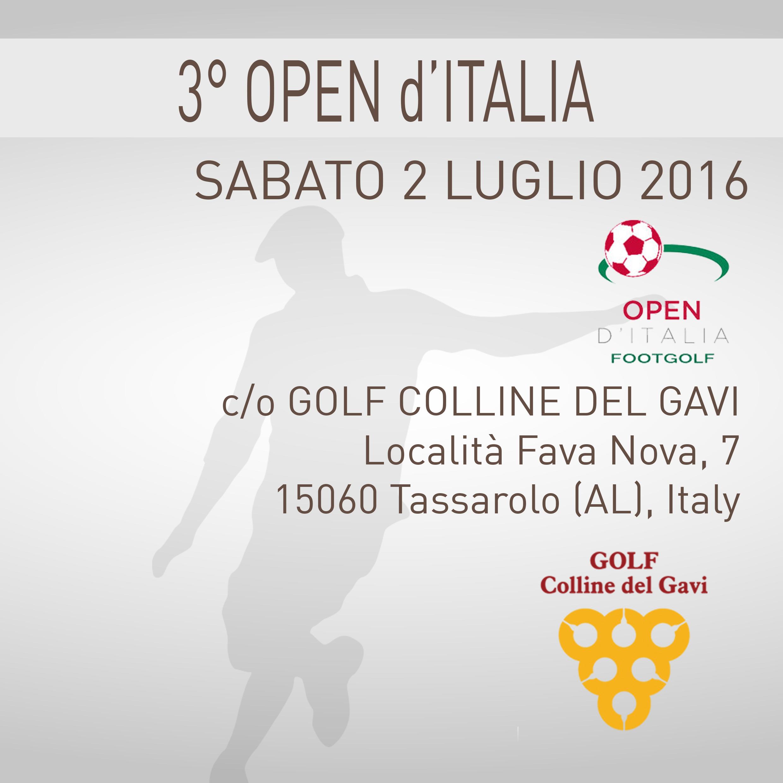 Locandina 3 Open d'Italia Golf Colline del Gavi sabato 2 luglio 2016 Negozio