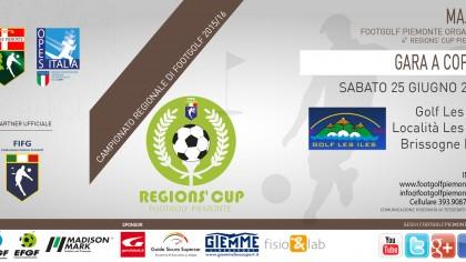 Locandina 4 tappa Regions' Cup Footgolf Piemonte 2016 Coppie Brissogne AO sabato 25 giugno 2016