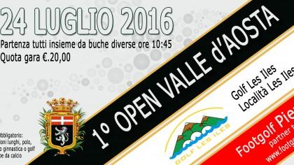 1 Open Footgolf Valle d'Aosta 24 Luglio 2016 banner
