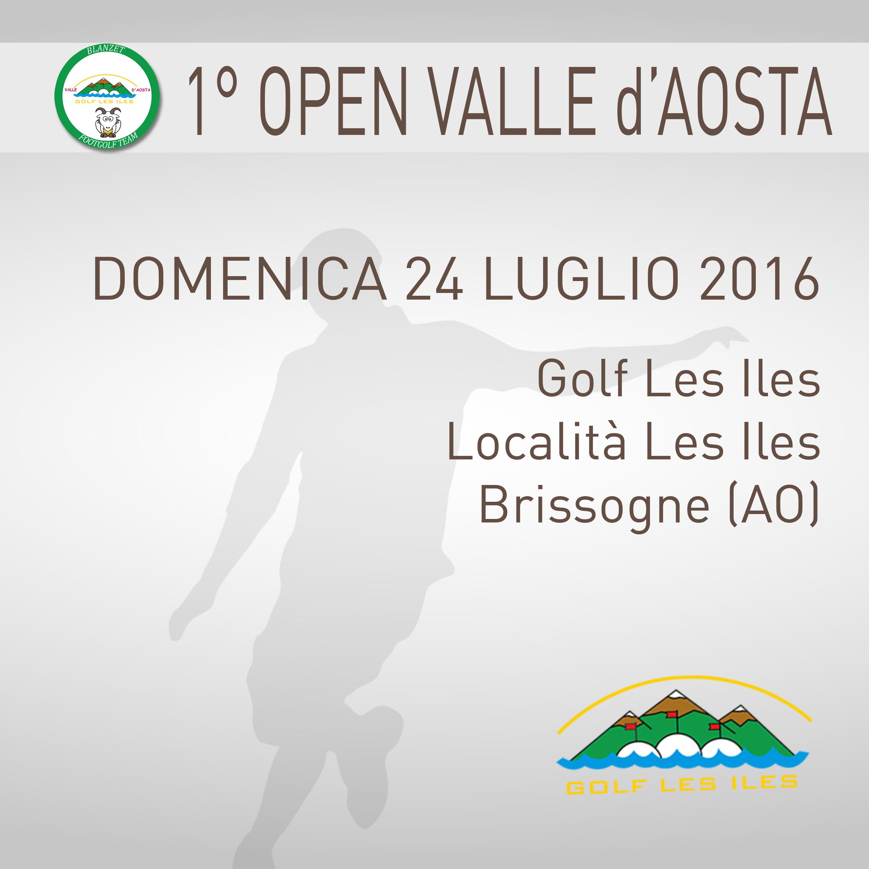 Locandina 1 Open valle d'Aosta Footgolf 2015-2016 Individuale Brissogne AO sabato 24 LUGLIO 2016 Negozio