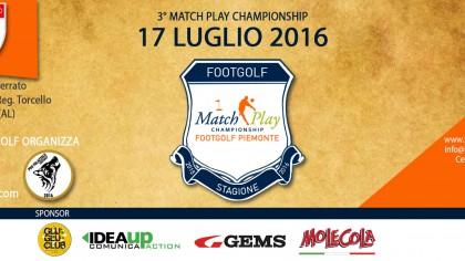 Locandina 3 tappa Match Play Footgolf Piemonte 2016 Casale AL domenica 17 luglio 2016