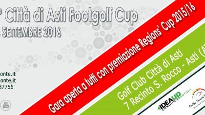 Locandina Premiazione Regions' Cup Footgolf Piemonte 2016 Asti AT sabato 24 settembre 2016